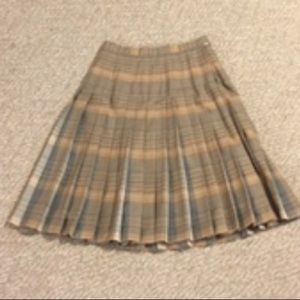 Vintage Pendleton pleated wool midi skirt